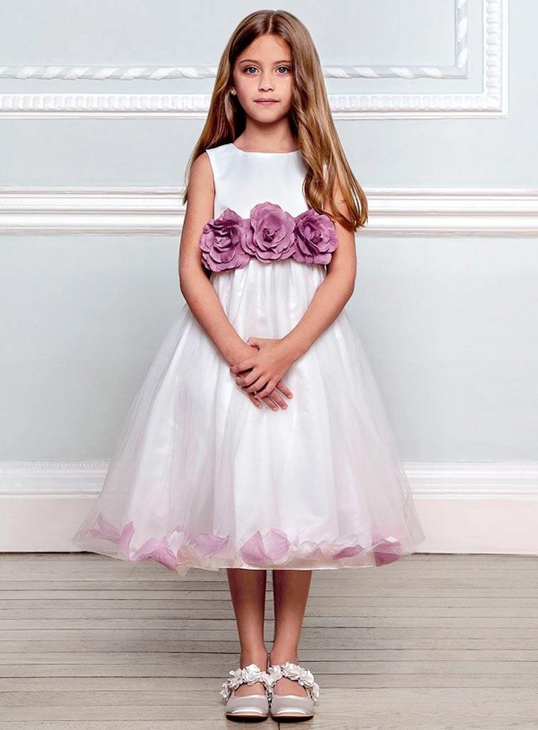 Белое выпускное платье для девочки 2017