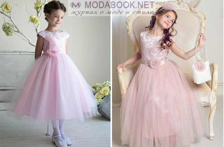 Выпускное платье цвета чайной розы для девочки