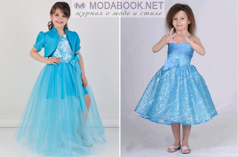 Голубое платье на выпускной в детскому саду 2017