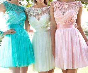 Модные короткие платья на выпускной 2018