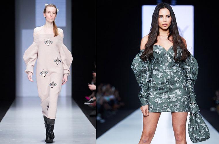 Модные платья зима 2017-2018: с фонариками