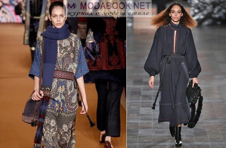 Модные платья зима 2017-2018: в этно стиле