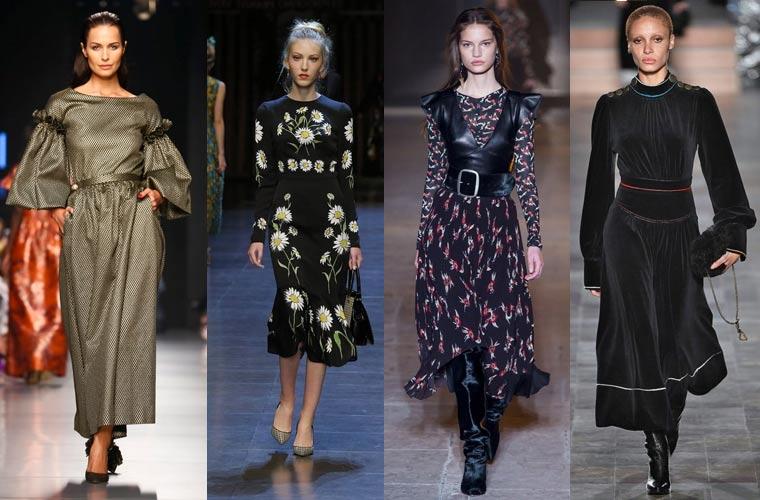 0717e32c1fbb231 Новые коллекции зимних платьев — зима 2019, представленные как именитыми  кутюрье, так и дизайнерами масс-маркетов, отличались разнообразием и ...