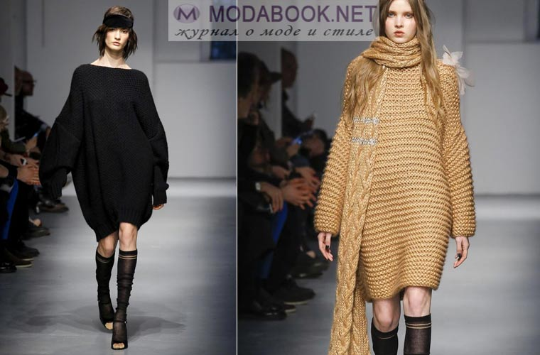 Модные платья зима 2017-2018: утепленные модели