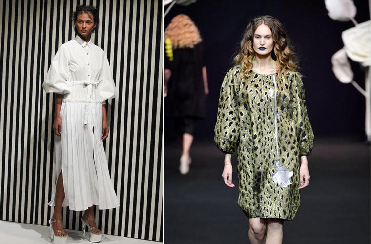 Модные платья зима 2017-2018: с  рукавами  фонариками