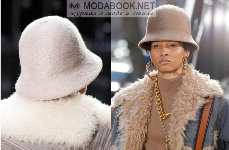 Модные шапки зима 2018: шляпка котелок