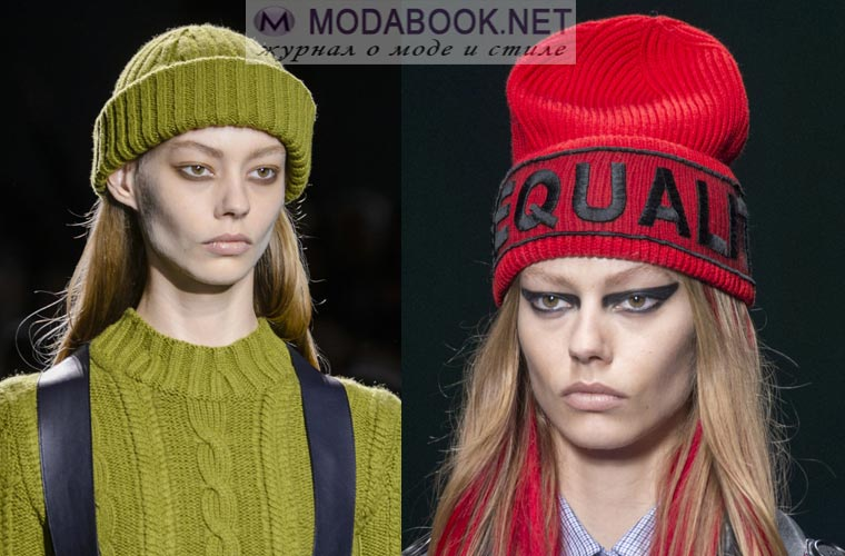 модные женские шапки зима 2019 новые модели