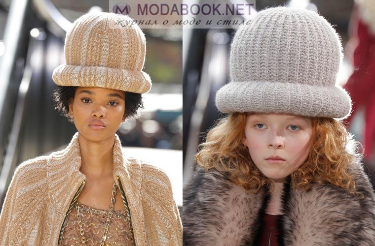 Вязанные шляпки зима 2018